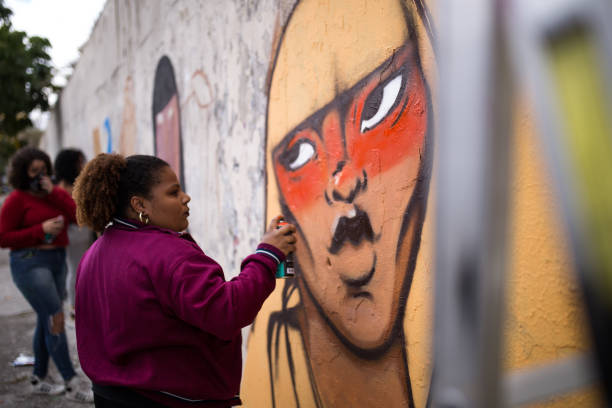 BRA: Women Graffiti Event In Brazil