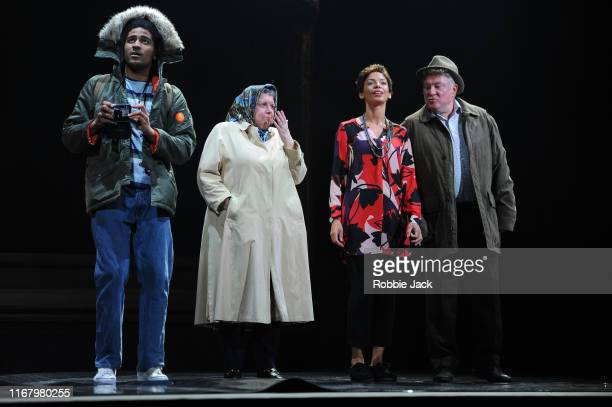 Declan Spaine as MaxwellElaine C Smith as HelenSasha Frost as Jackie and Lewis Howden as John in The National Theatre Of Scotland's production of...