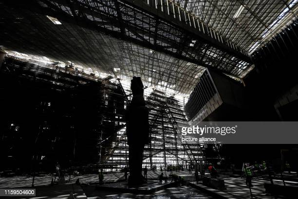 August 2019, Egypt, Giza: A general view of the entrance hall of the Grand Egyptian Museum in Giza outside Cairo. Photo: Hassan Mohamed/dpa