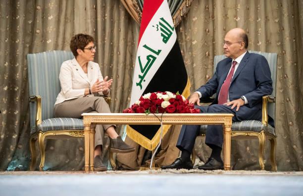 IRQ: German Defence Minister Kramp-Karrenbauer In Iraq