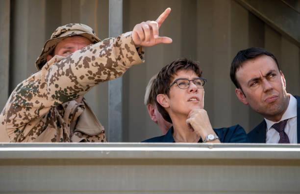 IRQ: German Minister Of Defense Annegret Kramp-Karrenbauer In Iraq