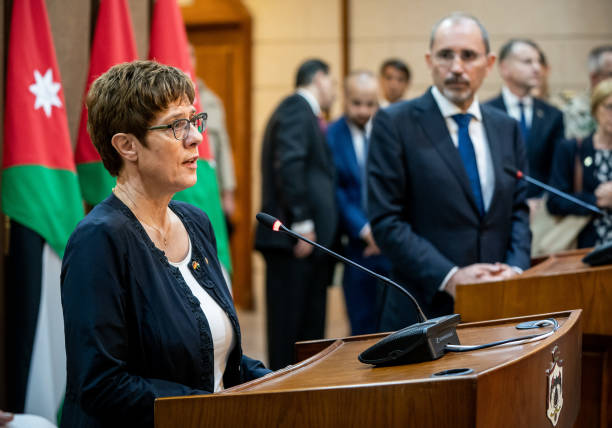 JOR: German Minister Of Defence Kramp-Karrenbauer In Jordan