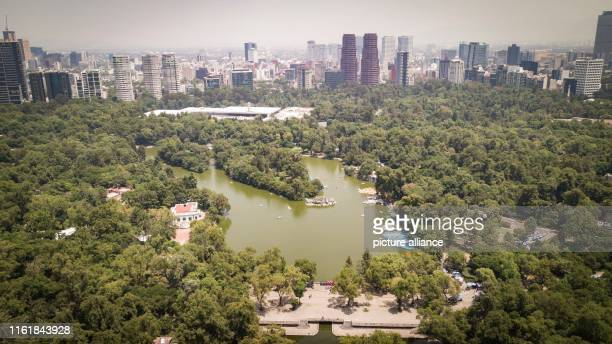 Aerial view of the Forest of Chapultepec southwest of the centre of the Mexican capital In 2019 the World Urban Parks organization named this park...