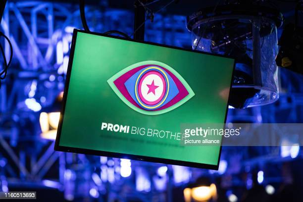 August 2019, North Rhine-Westphalia, Cologne: A television set hangs on stage during the opening show of the new season of the Sat.1 reality show...