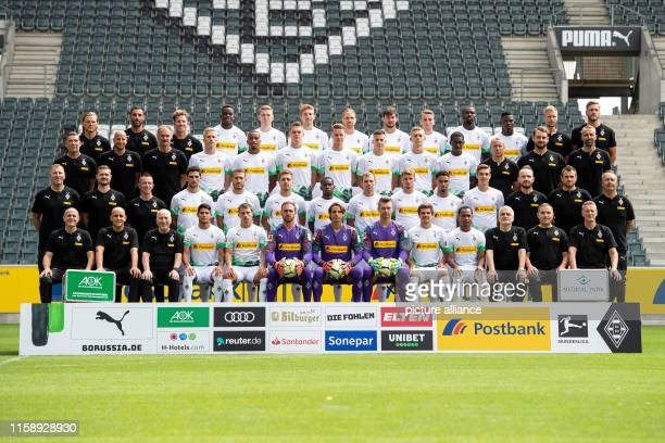 01 August 2019 North RhineWestphalia Cologne Team photo of Borussia Mönchengladbach transition trainer Eugen Polanski athletic trainer Alexander...