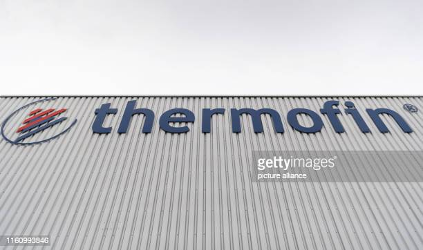 The company logo of Thermofin GmbH on the production hall Thermofin is an internationally active company in the production of components for...