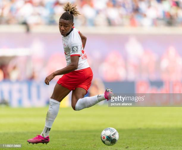 Soccer Test match RB Leipzig Aston Villa in the Red Bull Arena in Leipzig Christopher Nkunku from Leipzig plays the ball Photo Robert...