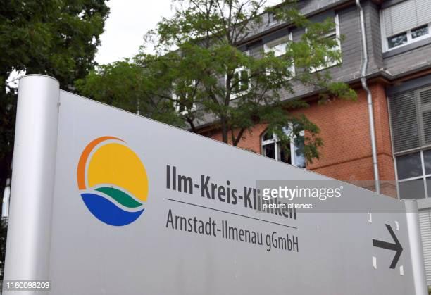 Display with signpost at the IlmKreisKliniken ArnstadtIlmenau gGmbH On the same day TÜV Thüringen presents the plant safety report 2019 Photo Martin...