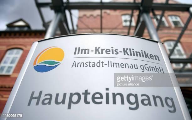Main entrance of the IlmKreisKliniken ArnstadtIlmenau gGmbH On the same day TÜV Thüringen presents the plant safety report 2019 Photo Martin...