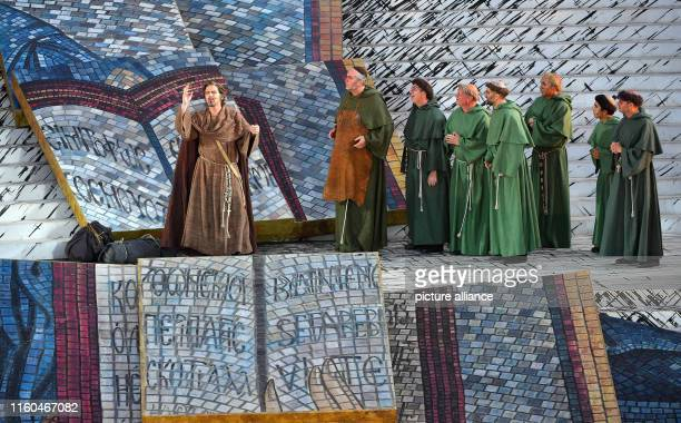 On the cathedral steps there is rehearsal for the premiere of the musical The Name of the Rose based on the successful novel by Umberto Eco on the...