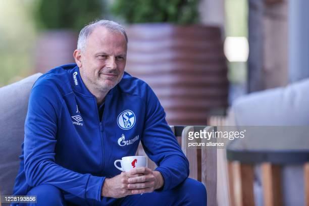 August 2020, Austria, Längenfeld: Schalke's board member for sports Jochen Schneider gives an interview to the German Press Agency . Due to the...
