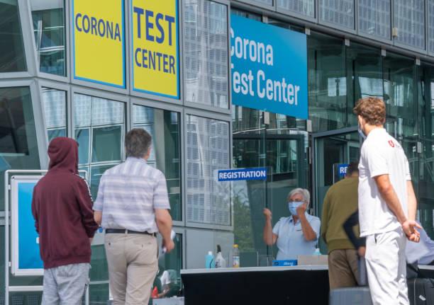 DEU: Corona Test Centre Munich Airport