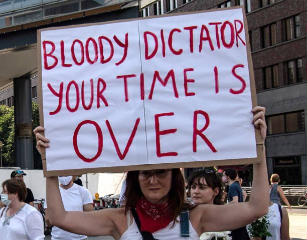 DEU: Demonstration Against Human Rights Violations In Belarus
