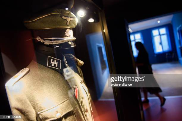 August 2020, Denmark, Sonderburg: A uniform of the Schutzstaffel of the National Socialists 1925-1945 can be seen in the exhibition on the history of...