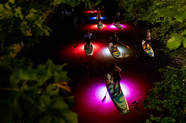 DEU: Excursion With The LED-SUP On The Hamburg Alster
