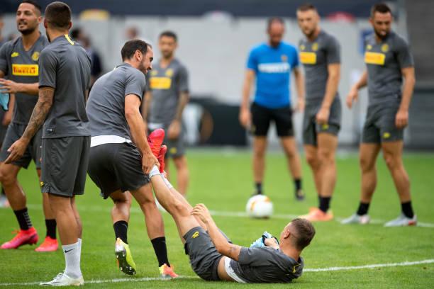 DEU: Europa League - Training Inter Milan