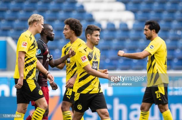August 2020, North Rhine-Westphalia, Duisburg: Football: Test matches, Borussia Dortmund - Feyenoord Rotterdam, Schauinsland Reisen Arena: Dortmund's...