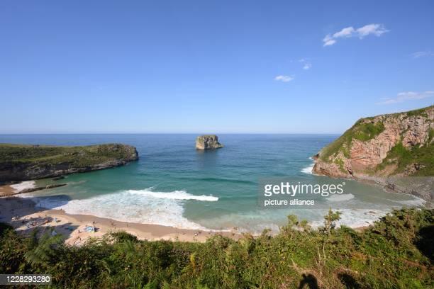 August 2020, Spain, Llanes: The beach Playa de Ballota. Photo: Sebastian Kahnert/dpa-Zentralbild