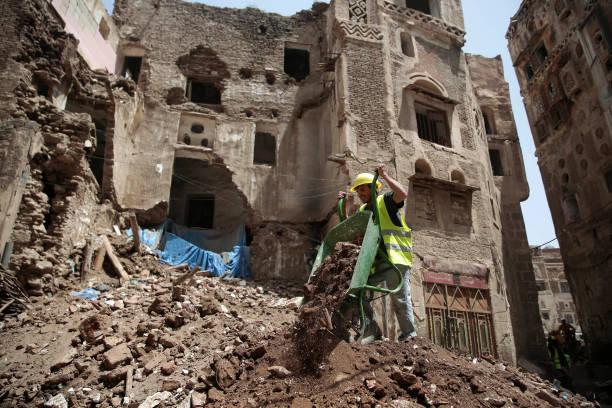 YEM: Collapsed UNESCO-Listed Building In Yemen