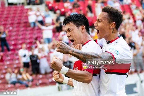 August 2021, Baden-Wuerttemberg, Stuttgart: Football: Bundesliga, VfB Stuttgart - SpVgg Greuther Fürth, Matchday 1 at Mercedes-Benz Arena....