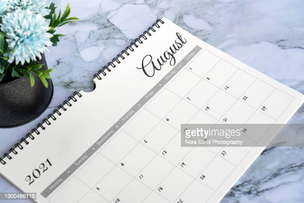 august 2021 calendar - monthly event stock pictures, royalty-free photos & images