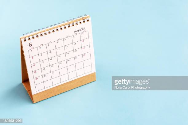 august 2021 calendar with copy space - 2021 stock pictures, royalty-free photos & images