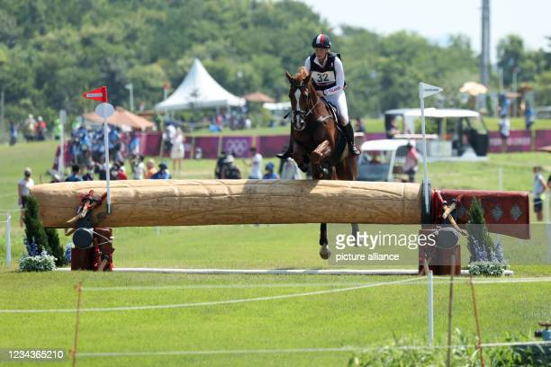 August 2021, Japan, Tokio: Equestrian Sport/Eventing: Olympic, Preliminary, Cross Country, on the Sea Forest XC Course. Malgorzata Cybulska from...