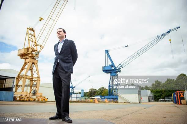 August 2021, Schleswig-Holstein, Rendsburg: Philipp Maracke, Managing Director of Flensburger Schiffbau Gesellschaft mbH and Nobiskrug GmbH, arrives...