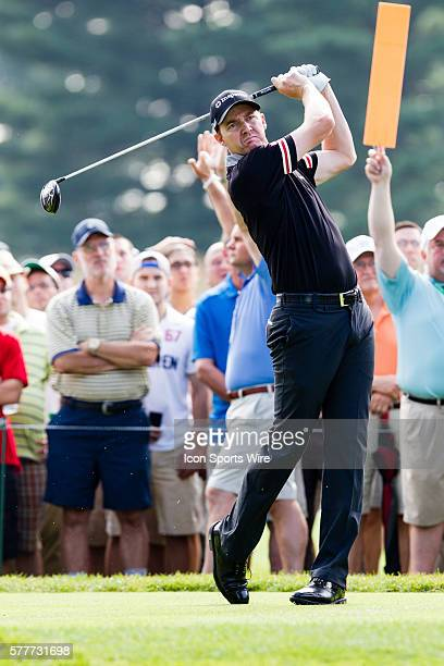Jimmy Walker teeing off on 16 during the first round of The Barclays at Ridgewood Country Club in Paramus NJ