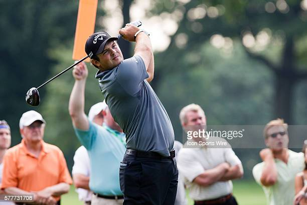 Patrick Reed teeing off of 16 during the first round of The Barclays at Ridgewood Country Club in Paramus NJ
