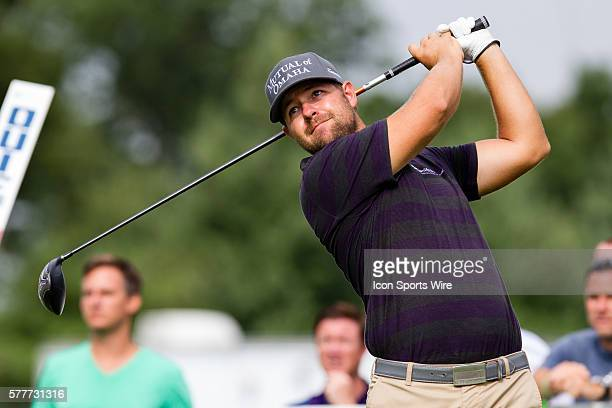 Ryan Moore teeing off at 16 during the first round of The Barclays at Ridgewood Country Club in Paramus, NJ.