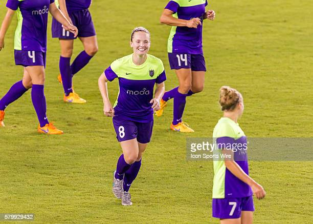 Seattle Reign FC midfielder Kim Little scored her third goal and a hat trick during the NWSL soccer match between the Seattle Reign FC and Houston...