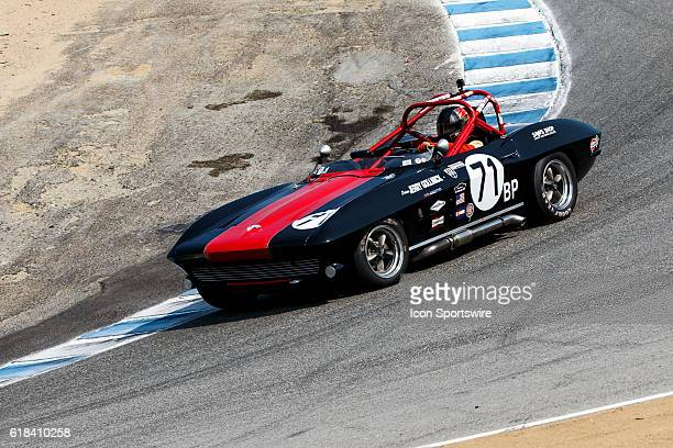 A 1964 Chevrolet Corvette driven by Jerry Gollnick from Boulder CO competed in Group 6B during Rolex Race 6B at the Rolex Monterey Motorsports...