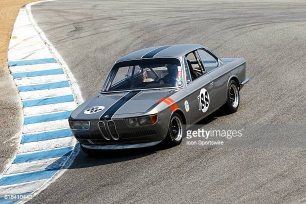 A 1968 BMW 2000 cs driven by Damon Desantis from Clearwater FL competed in Group 4B during Rolex Race 4B at the Rolex Monterey Motorsports Reunion...