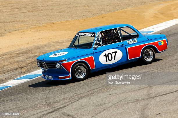A 1968 BMW 2002 driven by Billy Glavin III from Charlotte NC competed in Group 3B during Rolex Race 3B at the Rolex Monterey Motorsports Reunion held...