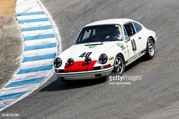 A 1968 Porsche 911 T/R driven by Alan Terpins from Sao Paolo Brazil competed in Group 4B during Rolex Race 4B at the Rolex Monterey Motorsports...