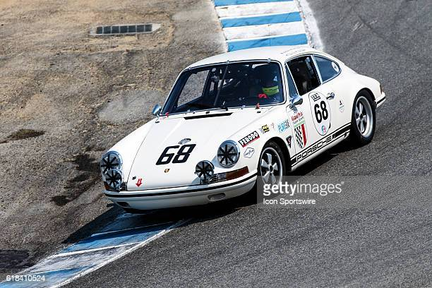 A 1968 Porsche 911 T/R driven by David Donohue from Playa Del Rey CA competed in Group 4B during Rolex Race 4B at the Rolex Monterey Motorsports...