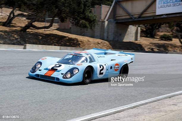 A 1969 Porsche 917K driven by Bruce Canepa from Scotts Valley CA competed in Group 3B during Rolex Race 3B at the Rolex Monterey Motorsports Reunion...