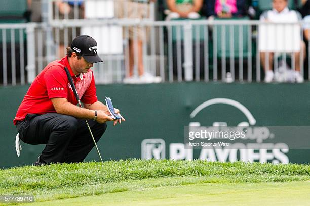 Patrick Reed during the second round of The Barclays at Ridgewood Country Club in Paramus NJ