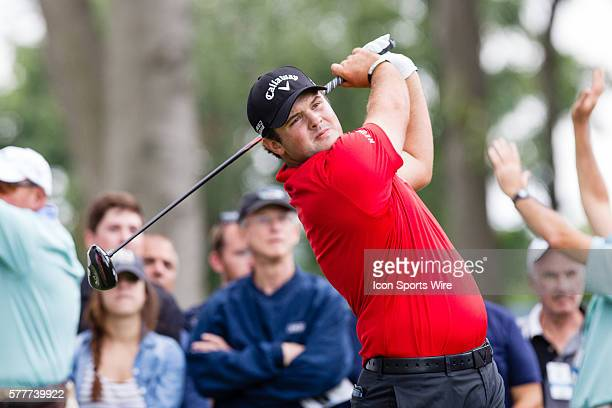 Patrick Reed teeing off on 6 during the second round of The Barclays at Ridgewood Country Club in Paramus NJ