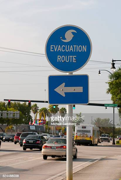 August 23 2012 EVACUATION SIGNS on the streets of South Florida South Florida prepares for Storm Isaac