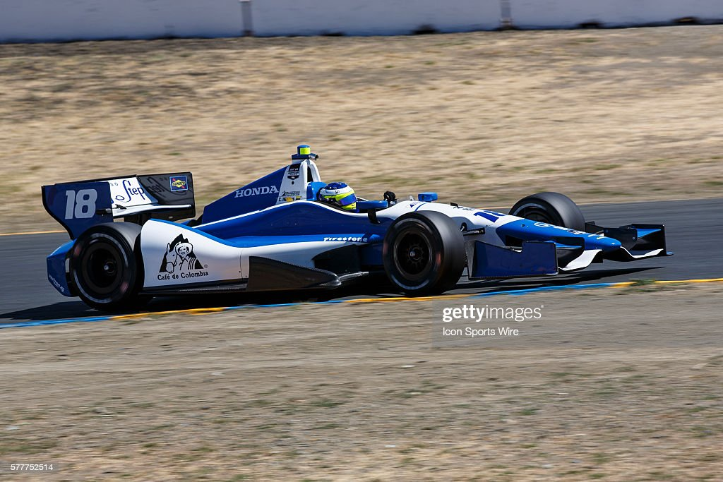 Carlos Huertas in the Dale Coyne Racing during practice for the