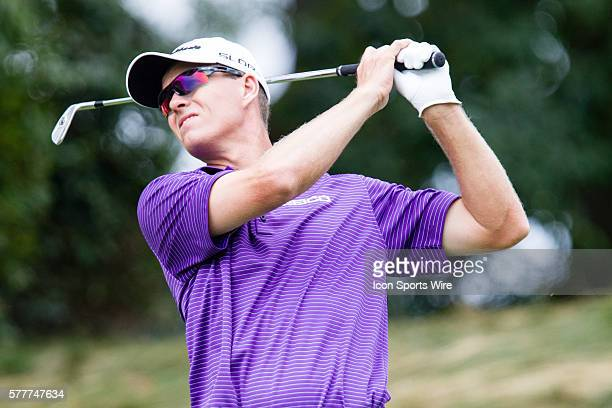 John Senden teeing off at 8 during the third round of The Barclays at Ridgewood Country Club in Paramus NJ