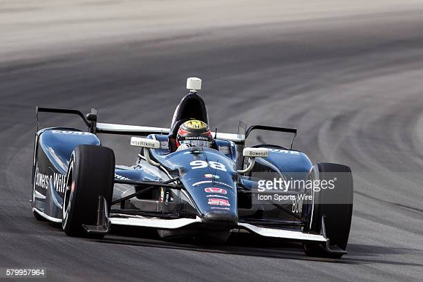 Gabby Chaves driver of the Bowers Wilkins/Curb Honda during the Verizon IndyCar Series ABC Supply 500 at Pocono Raceway in Long Pond PA