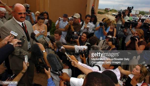 August 24 2006/ Boulder / Boulder County Sheriff Joe Pelle holds press conference after John Mark Karr arrived at the Boulder County Jail August 24...