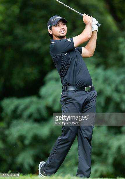 Jason Day hits from the fairway on 2 during the final round of The Barclays at Ridgewood Country Club Paramus NJ