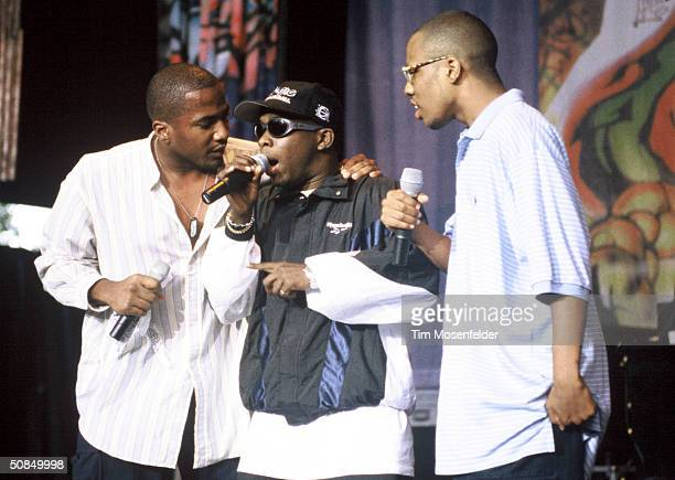 VIEW CA August 24 A Tribe Called Quest performing at Shoreline Amphitheater Event held on August 24 1994 in Mountain View California