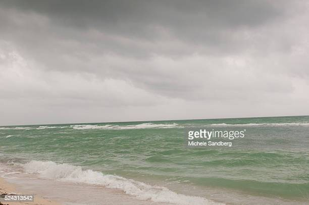 August 25 2012 A View Of The Ocean As South Florida Prepares For Hurricane Isaac