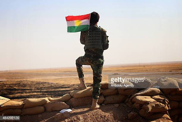 August 25, 2014 dated pictures show Peshmerga forces' ongoing progression to fight against army forces led by Islamic State and seize to regain areas...