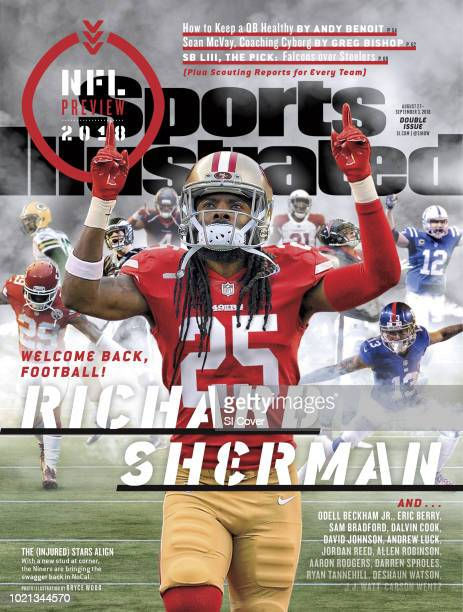 August 27 2018 September 3 2018 Sports Illustrated Cover NFL Season Preview San Francisco 49ers Richard Sherman exiting tunnel before game photo by...